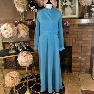 VINTAGE 1970'S UNBRANDED MAXI DRESS